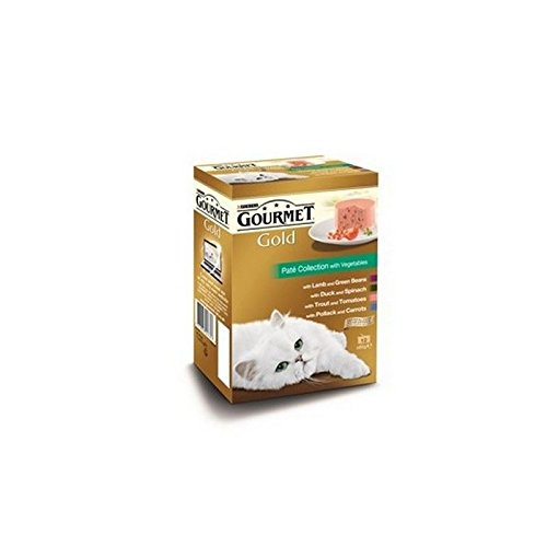 Gourmet Gold Erwachsene Katze Pastete Sammlung Nassfutter 12X85G Kann (1.02Kg)