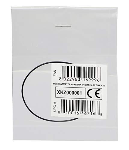 Cressi Manta Battery Oring Renata 371 36.0 X Diam. 0.8.0 Joint torique pour la Montre Unisex-Adult, Noir, Ø36.0 X Ø0.8.0