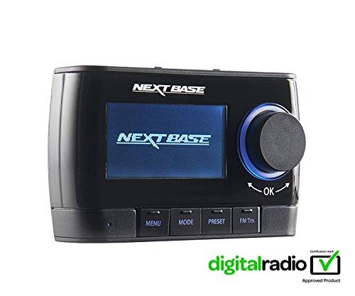 Nextbase Adapt DAB250 - DAB Plus Adapter für Digital-Radio & DAB+ Auto-Radio Tuner & Empfänger mit integriertem FM Transmitter - mit Halterungen, Kabel & aktiver Scheiben-Antenne -