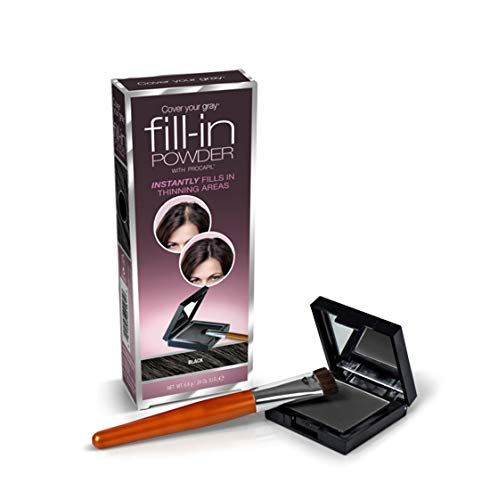 Cover Your Gray Fill In Powder for women Instant Touch Up BLACK by FILL-IN
