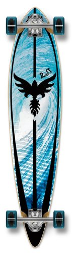 Yocaher Punk Graphic Pintail komplett Longboard Skateboard,