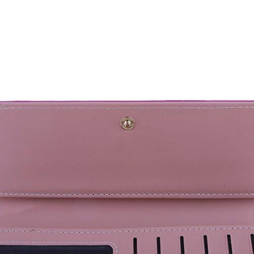 MagiDeal Borsa Della BustaCarta Del Raccoglitore Pochette Clutch per Donna Signore - Azzurro Rosa rosso
