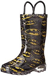 Western Chief Kids Batman Light-Up Rain Boot(Toddler/Little Kid/Big Kid), Black, 8 M US Big Kid