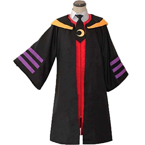 Assassination Classroom Ansatsu Kyoushitsu Koro-sensei Cosplay Costume (Cloak + rote Weste + shirt + tie + hat + Bein Kralle) ,Maßgeschneiderte,Größe L: Höhe (Sensei Kostüm)
