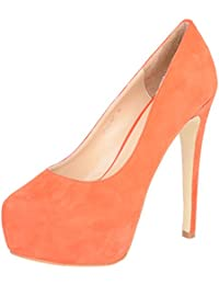Vincenzio Robertina Women's Orange Leather Pumps