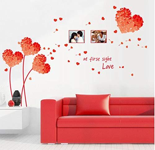 QTXINGMU DIY-Wall Art Aufkleber Dekoration Orange Liebe Gras Frame Wand Aufkleber Home Decor 3D Wallpaper Für Wohnzimmer (Halloween Wallpaper Orange)