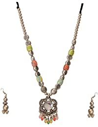 High Trendz Ethnic Tribal Antique Oxidised Silver Plated Necklace Set For Women & Girls