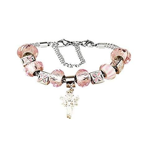 White Birch Angel Charm Bracelets with Charms for Pandora Bracelets for Women Girls Pink Crystal Jewellery Birthday Gifts Ideas