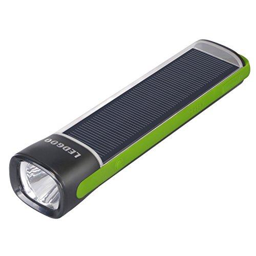 ledgoo Outdoor Solar Powered Taschenlampe Taschenlampe mit 4000 mAh Notfall Akku Backup Power Bank für Wandern und Camping