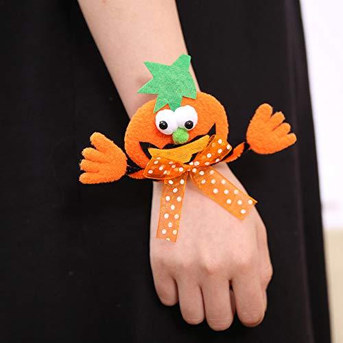 Qiuday Armbänder | Personalisiertes Armband Halloween Glow Slap Armband Party Dekor Pat Kreis Hand Ring Kürbisschläger Feat Herren Armband - Damen Armband - cool (Halloween Armbänder Haltung)