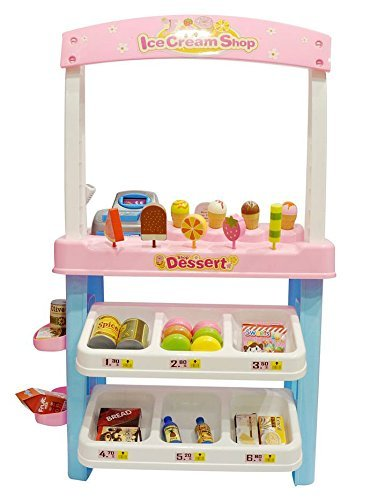 CHIMAERA My Ultimate Ice Cream Shop Stand with Cash Register and Scanner (Pink)