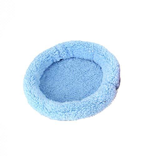 Cupcinu Haustiermatte Mini Tier Nest Hamster Nest Hamster Pad Meerschweinchen Pad kann Maschine waschbar Sein Size 22 * 14cm (Blue)