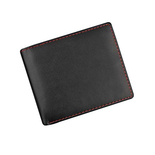 OSYARD Herren Geldbörse, Portemonnaie, Börse, Brieftasche,Männer Kunstleder Wallet Schwarz Geldbeutel mit RFID-Schutz,11x9,5x1,5 (B x H x T)