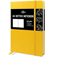 Stationery Island A5 Dotted Notebook - Sunflower. Hardcover Bullet Grid Journal with 180 Pages and Premium 120gsm Paper