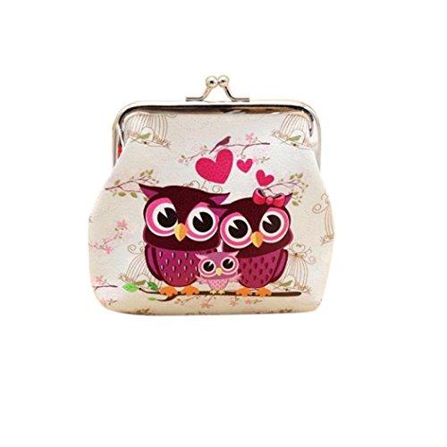 Internet Hibou Femmes Retro Détenteur Portefeuille Card Porte-monnaie d'embrayage sac à main 12cmX11cm