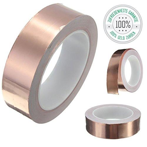 Kupferband 50mm x 20 m EMI Abschirmend gegen Schnecken Kupferfolie Kupferband Selbstklebend Klebeband Schneckenband von Tillmann's Deutschland®