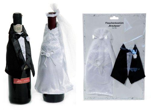 Flaschenverkleidung BRAUT UND BRÄUTIGAM zur Hochzeit