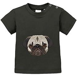 Camiseta de bebé Pug Realistic by Shirtcity