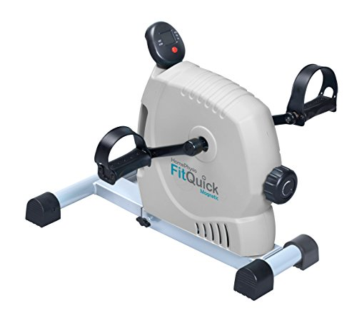 41tGcMn31qL - FitQuick - Premium Quality - Mini Exercise Bike - Quiet, Ultra Smooth Low Impact Magnetic Resistance - Rehabilitation for the Legs and Arms - Portable Easy to Use, ideal for compact spaces, use seated on a sofa or chair. It helps Build Muscles in the legs and arms plus Strengthens Joints and Ligaments while promoting circulation - Two directional cycling benefits a wider range of muscle groups - Variable Resistance from zero to moderate. enough for exercising the Heart and Cardiovascular System.