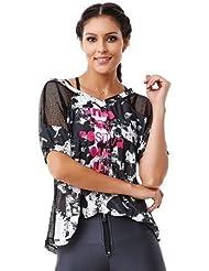 T-Shirt Femme Yoga, Fitness & Danse Positive Imprimé Marron - Caju Brasil