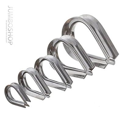10x KAUSCHE Edelstahl INOX 3mm -- Drahtseilkauschen ROSTFREI Seilöse für Forstseil Windenseil Stahlseil Seil Draht Stahl Seilösen Seil mit Öse