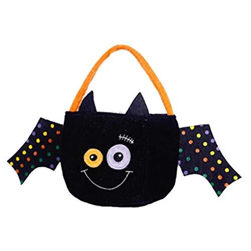 Kürbis Eimer - Aisoway Halloween-Kürbis-Eimer-Tuch Taschen Geschenkhandtaschen-Süßigkeit Taschen Geschenk-Beutel