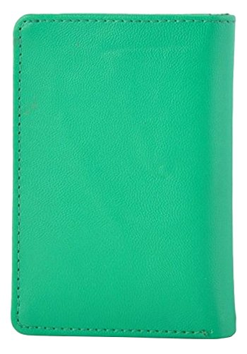 Butterflies Femmes carte mince portefeuille faux cuir bussines carte de crédit sac vert