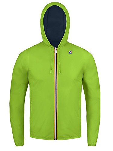 K-Way JACQUES PLUS DOUBLE FLUO GREENFLUO-BLUE DEPHT GREENFLUO-BLUE DEPHT