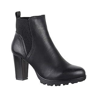 Elara Ankle Boots | Trendige Damen Stiefeletten | Blockabsatz Plateau | Chunkyrayan 949-GA-Schwarz-38