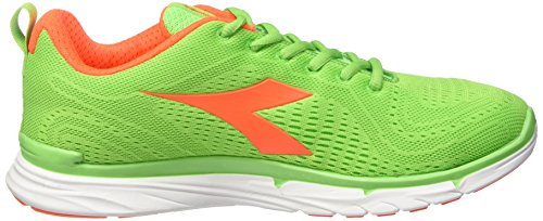 Diadora Unisex-Erwachsene Nj-303 Trama Trainingsschuhe Multicolore (C5243 Verde Flash/Bianco)