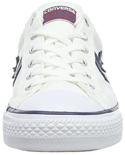 Converse, Star Player Adulte Core Canvas Ox, Sneaker, Unisex - adulto Bianco (Weiß)