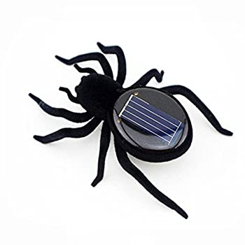 Solar Power Energy Toy,amamary Smallest Solar Power Mini Toy Car Racer + Spider Robot + Grasshopper Robot + Cockroach Robot Educational Solar Powered Toy Gadget Gift (Spider) 2