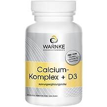 Calcio Komplex + Vitamina D – con calcio, magnesio y vitamina D3 – 250 cápsulas