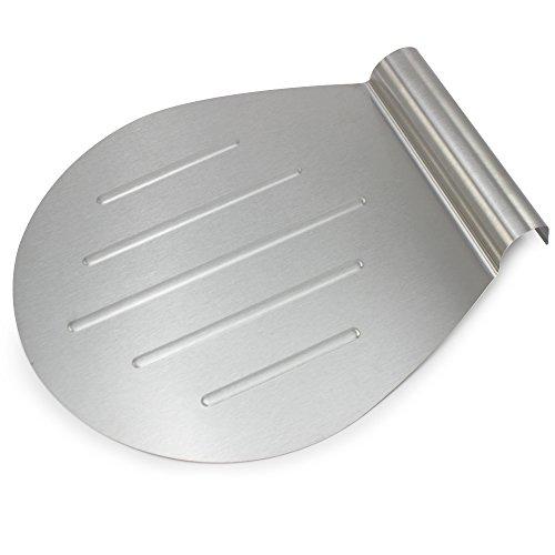COM-FOUR Praktischer Kuchen- und Pizzaheber aus Edelstahl, bis zu Ø 26 cm (01 Stück - Pizzaheber)