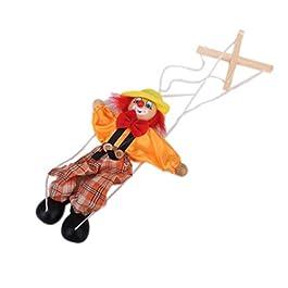 1pcs Legno Pagliaccio Marionette Giocattolo Per I Bambini