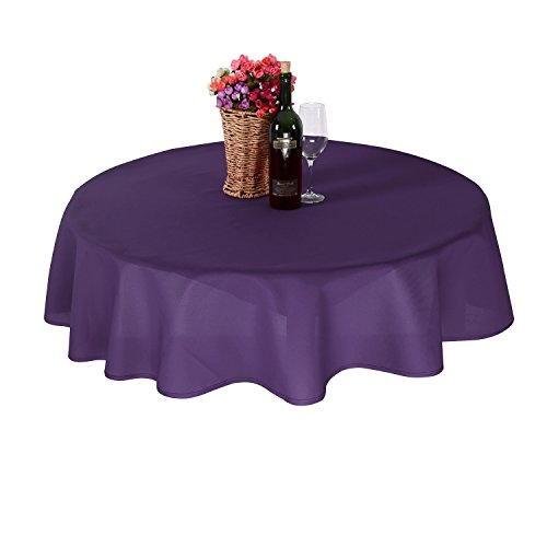 Deconovo Nappe Exterieur Ronde Waterproof de Pique nique 180cm Violet