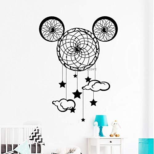 SJXWOL wandaufkleber Wohnzimmer Wandtattoos Kinderzimmer Home Decoration Mickey Mouse Ohren Decals Baby Kindergarten 76x56Cm