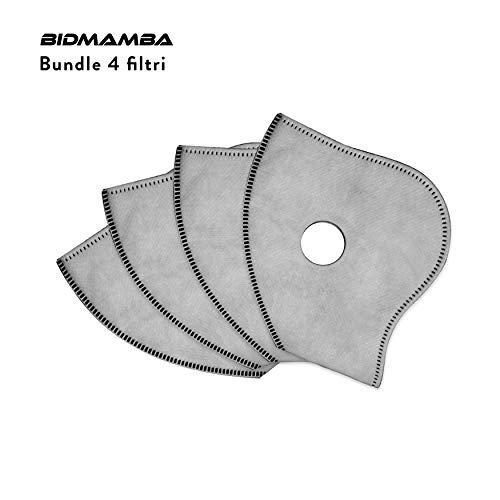 BidMamba Filtros Mascarilla Facial Antipolución Deportiva 2ªGen. N99 | Filtro Carbon Activo 5...