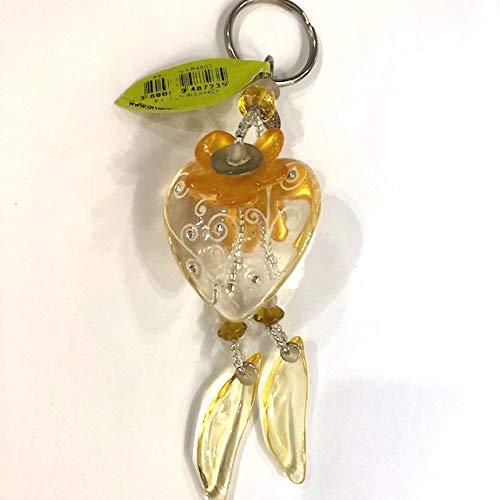 Schlüsselanhänger Herz klar/Gold von Orna Lalo