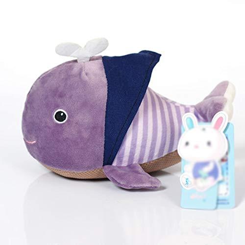 MMD Presente di Compleanno del Giorno dei Bambini del Cuscino Adorabile della Piccola Balena di Ragdoll della Peluche del Giocattolo (Colore : Purple)