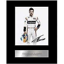 Fernando Alonso McLaren Honda # 2 - Foto enmarcada firmada