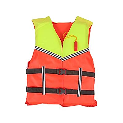 Docooler Life Jacket Lifesaving Jacket Aid Boating Surfing Work Vest Clothing Swimming Marine Life Jackets Safety Survival Suit Outdoor Water Sport Swimming Drifting Fishing(Adult/Children) by Docooler