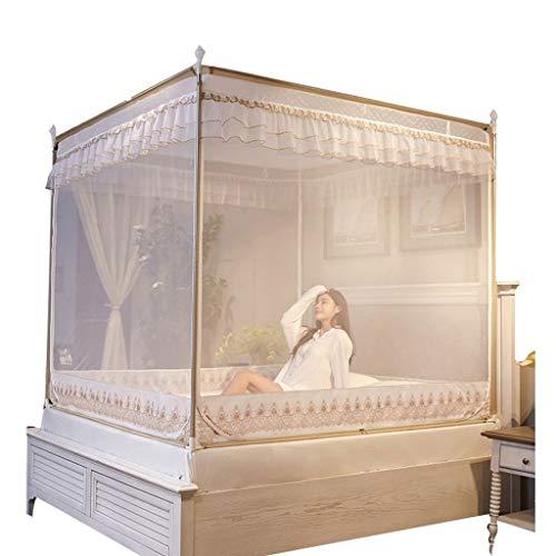 CML Home Schönes Aussehen Haus Schlafzimmer Moskitonetz - Bett mit 4 Corner Überdachungen, Himmelbett Vorhang, Kinderbett Bettdecke, Schlafzimmer-Dekoration Bettdekoration (Size : 2.0m(6.6ft))