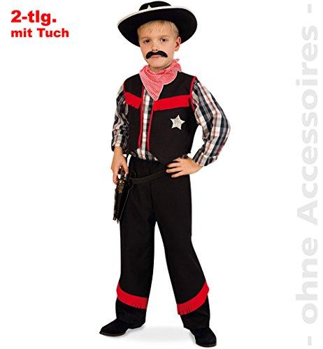 Cowboy 2tlg mit Tuch Kinder Kostüm Gr 116