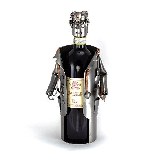 Steelman24 I Schraubenmännchen Arzt Weinflaschenhalter I Made in Germany I Handarbeit I...