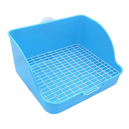 e WC, quadratische Töpfchen Trainer Ecke Wurf Bettwäsche Box Pet Pan für Kleintiere / Kaninchen / Meerschwein / Galasaur / Frettchen (zufällige Farbe) ()