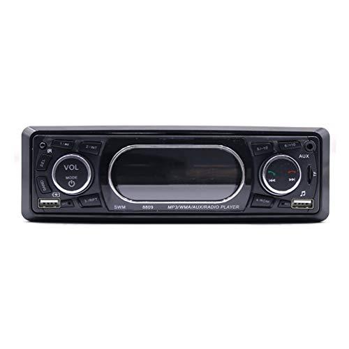 Original Dashboard Display Auto MP3 WMA AUX Radio Player Unterstützung USB Bluetooth Secure Digital Memory Card Funktion - Silber & Schwarz