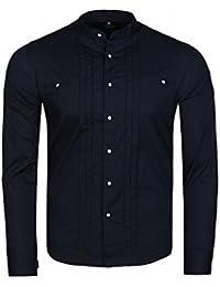 CARISMA Basic Hemd Herren Freizeit-Hemd Business Blau Stehkragen