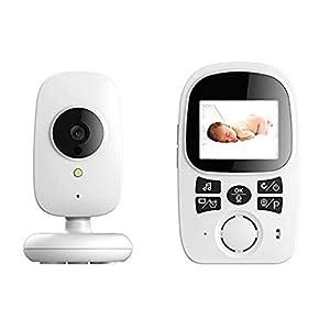 PowCube 2.4 inch Wireless Video Baby Monitor Night Vision Temperature Sensor 2 Way Talk and VOX (White)   6