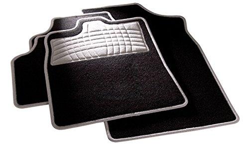 carfashion 254580universal pie | Juego de alfombrillas para escalón Protección y costuras en grau| sin soporte, Auto Esterilla apta para muchos tipos Auto
